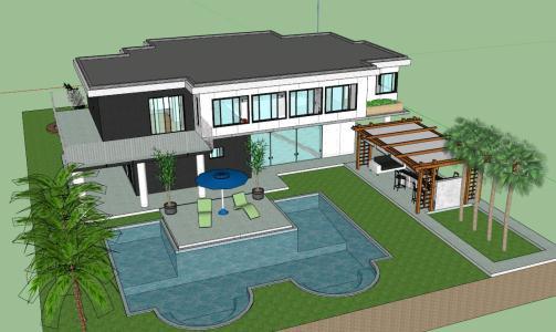 Foto casa moderna de decora e constroe sketchup 269044 of for Casa moderna sketchup download